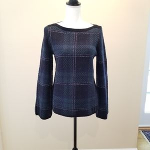 Ann Taylor Forest Tartan sweater in small NWT